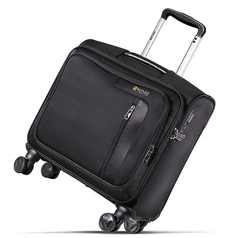 Maleta Portátil con Ruedas, Trolley Ordenador de Negocios con Candado TSA y 2 Compartimentos,