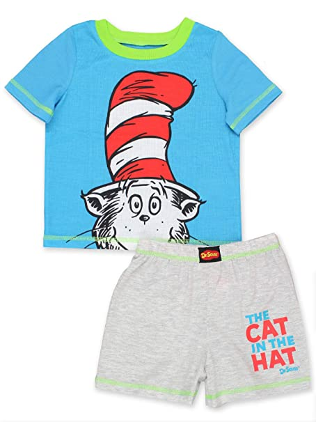 Dr Seuss Boys Cat In The Hat Pajamas Pajama Set PJs