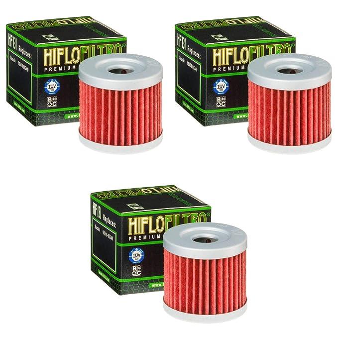 3x Filtro de aceite Keeway RKV 125 11-14 Hiflo HF131: Amazon.es ...