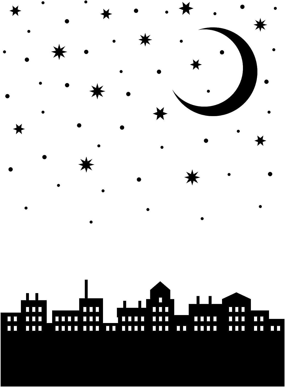 Darice 30041351 Embossing Folder City Moon Nightscape