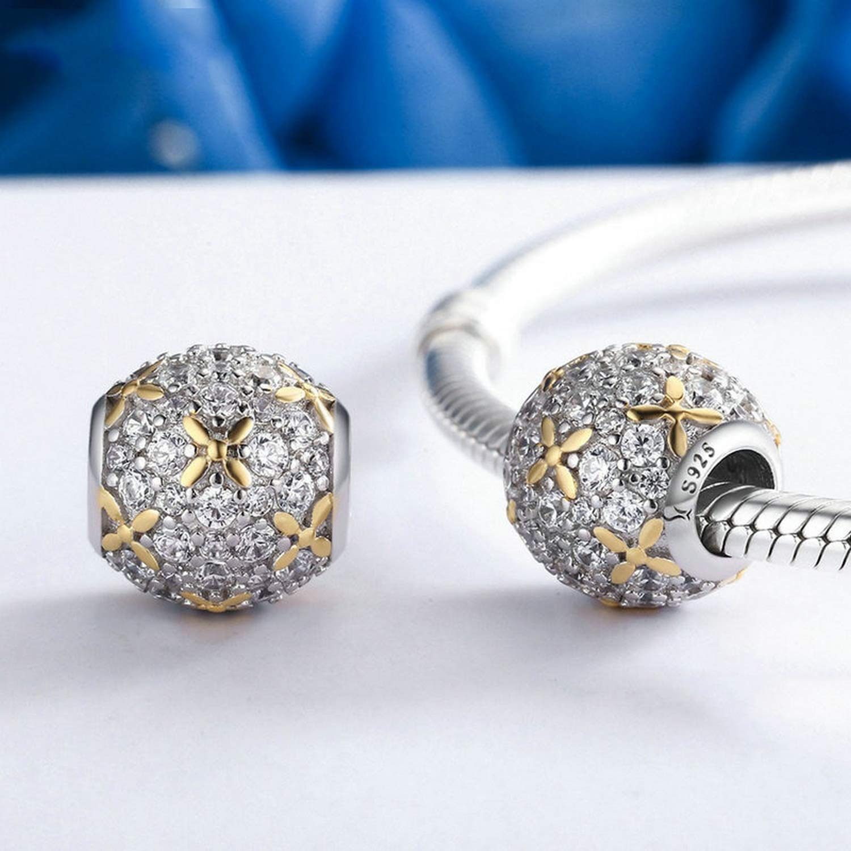 EverReena Beads Dazzling Full-Bloom for Silver Bracelets