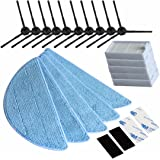 REYEE NEU Seitenbürste HEPA Filter Tuch Velcro für Chuwi iLife iLife 5Mop V5S V3 V3 + V5 v5 pro x5 iLife v5pro Staubsauger-Teile