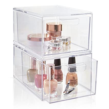STORi 2-Pack Premium Quality Stackable Cosmetic Storage and Makeup Palette Organizer Drawers | Audrey  sc 1 st  Amazon.com & Amazon.com: STORi 2-Pack Premium Quality Stackable Cosmetic Storage ...