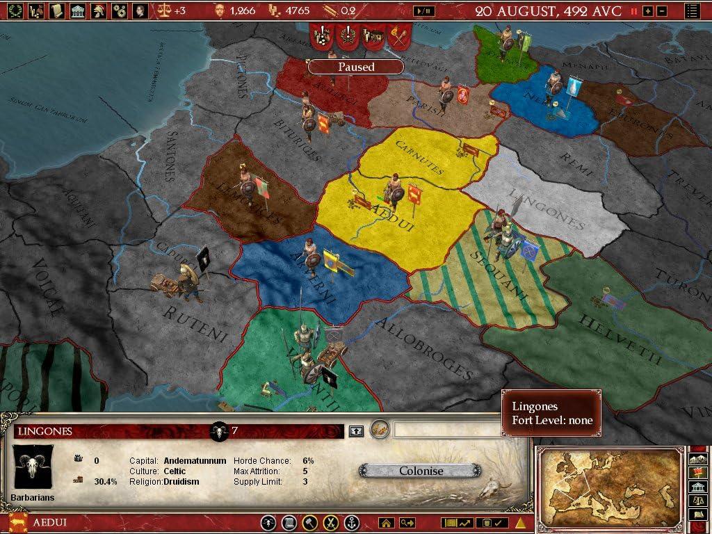 Amazoncom Europa Universalis Rome Gold PC Video Games - Eu rome map
