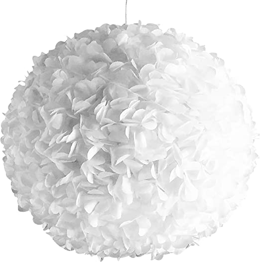 White Fluffy Lamp Pendant Ceiling Light Pendant Lamp Pendant Light Paper Paper Rice Paper Shade Lamp Designer Lamp Living Room Lamp Bedroom Lamp Ceiling Light Blossom Ball Pendant Paper Amazon De Beleuchtung