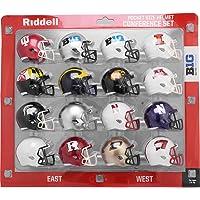 $25 » Riddell Pocket Pro Speed Helmet Big Ten 10 Conference (16 Helmets) - Set includes:…