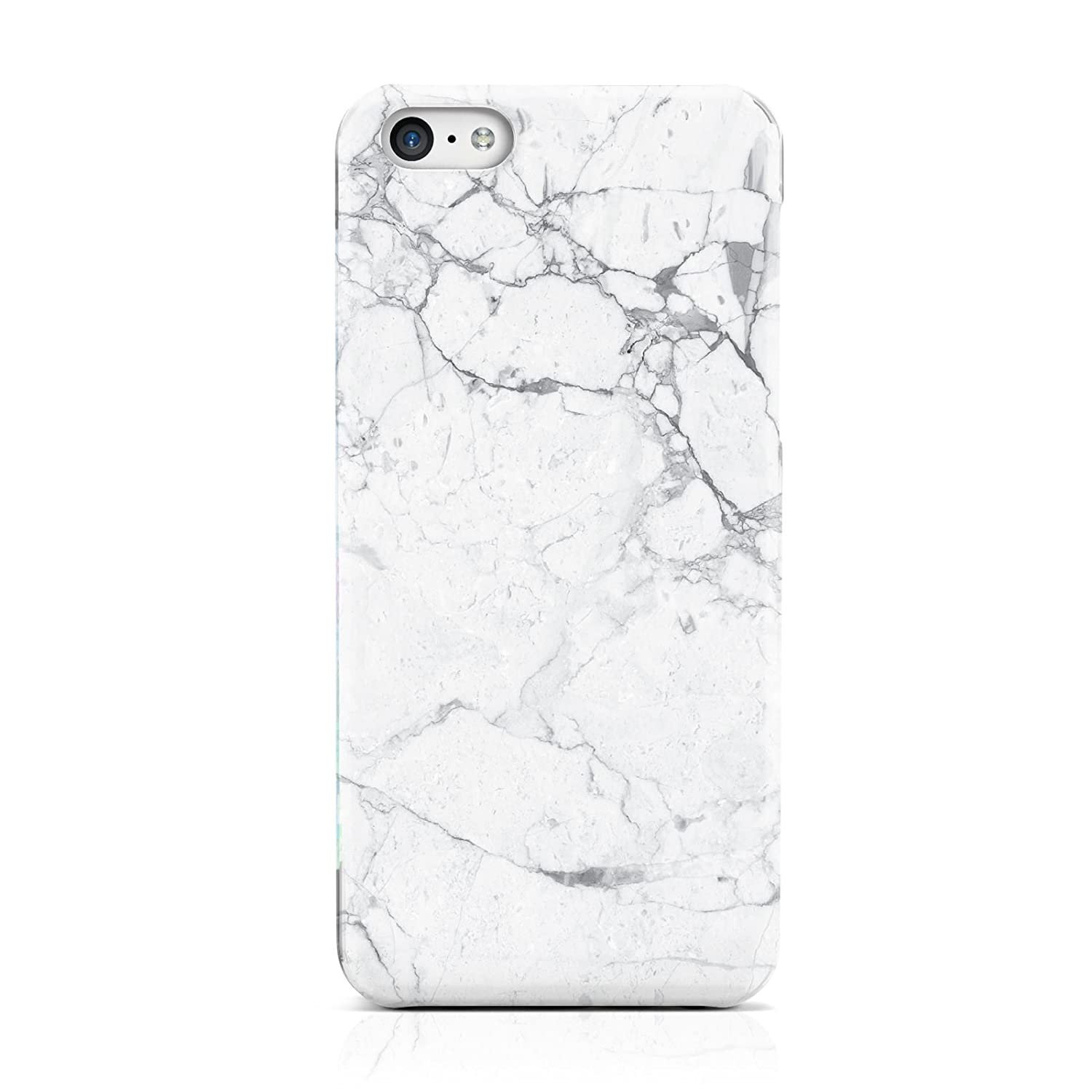 san francisco 48370 28da9 FAUX MARBLE EFFECT GREY WHITE HARD PHONE CASE COVER FOR APPLE IPHONE 5 5S SE