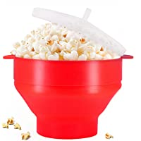 Microwaveable Silicone Popcorn Popper, BPA Free Collapsible Hot Air Microwavable Popcorn Maker Bowl, Use In Microwave or…