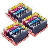 PerfectPrint Kompatibel Tinte Patrone Ersetzen für HP Photosmart 5510 5511 5512 5514 5515 6510 6512 6515 7510 7515 B010a B109a B109d B109f B110a B110c 364 XL (Schwarz/Cyan/Magenta/Gelb, 12-pack)