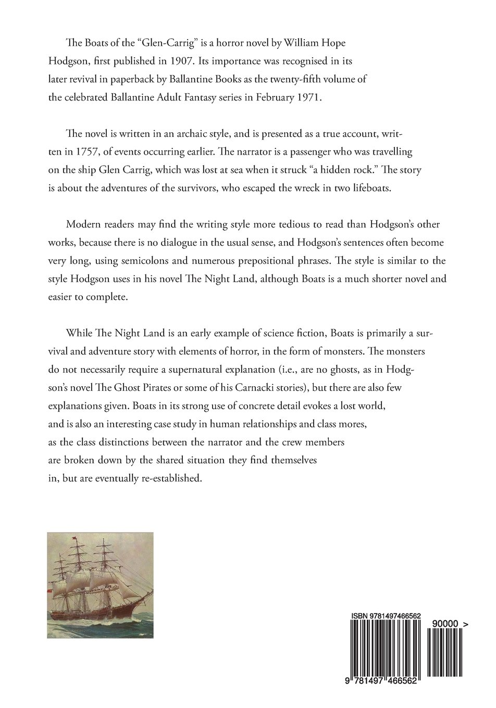 Amazon: The Boats Of The 'glen Carrig': A Classic Horror Novel (classic  Horror Novels) (9781497466562): William Hope Hodgson: Books