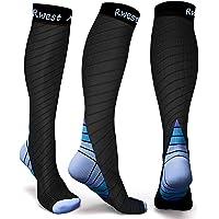 Rwest X Medias de Compresion Mujer y Hombre, Calcetines de compresión para Running ,Ciclismo, Deporte, Trotar, Correr…