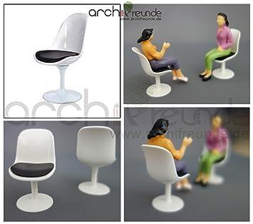 2 X Moderne Modell Stuhl Modellbau Büro Wohnzimmer 1:25 Spur G, Hoch  Qualität