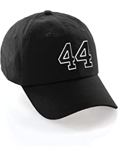 Custom Dad Hat 00-99 Raised Team Numbers Classic Baseball Cap - Black Hat  with 53f47465ddcf