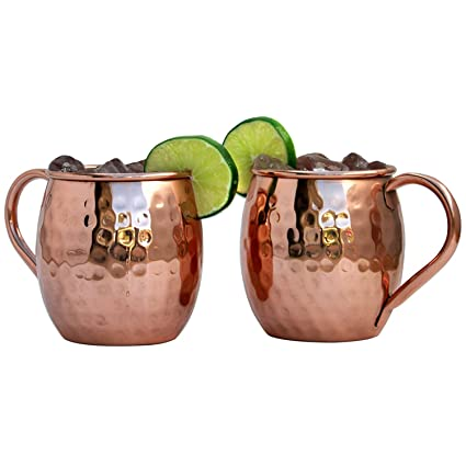 Gift 18 Moscow Set Pure Mugs 2 Design Mule Solid Hammered Copper Of Raajsee Ounce Fc35u1KlJT