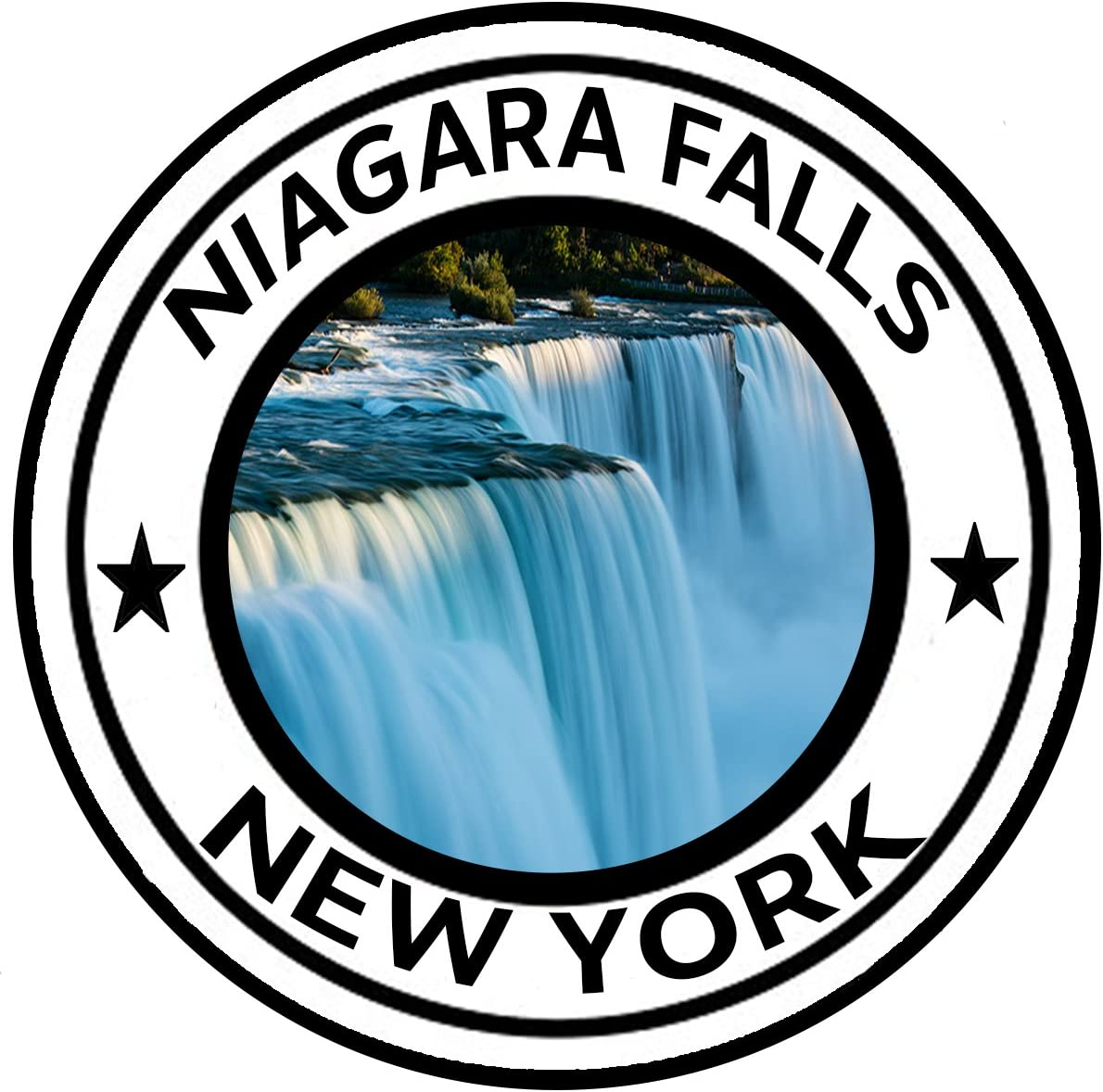 Rogue River Tactical Niagara Falls New York National Monument Park Sticker 5 Round Car Auto Decal
