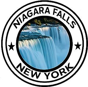 "Rogue River Tactical Niagara Falls New York National Monument Park Sticker 5"" Round Car Auto Decal"