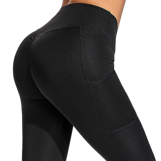 Amazon.com: YOFIT - Leggings de cintura alta para mujer ...
