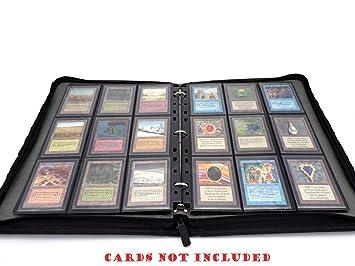 docsmagic.de 3-Ring Premium Zip-Album Black + 25 18-Pocket ...