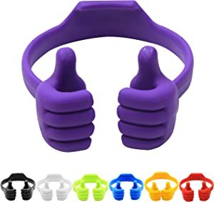7Pack Thumbs-up Cell Phone Stand, Honsky Universal Flexible Multi-Angle Cute Desk Desktop Phone Holder, Compatible with Android Switch Nintendo Tablet, Assorted Colors, Bundle