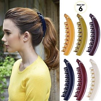 2 Banana Hair Combs 5 Inch Pumpkin Banana Hair Clips Girls Hair Accessories