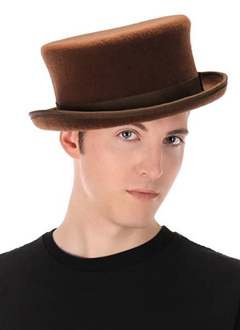 Victorian Men's Hats- Top Hats, Bowler, Gambler Elope John Bull Low Steampunk Top Hat in Brown $35.25 AT vintagedancer.com