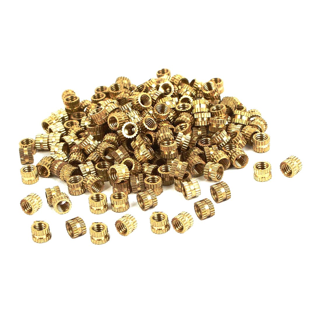 ZXHAO M4 Brass Injection Molding Knurled Threaded Insert Nuts 200 Pcs M4x4x5.3mm 5//32x5//32x3//64 inch