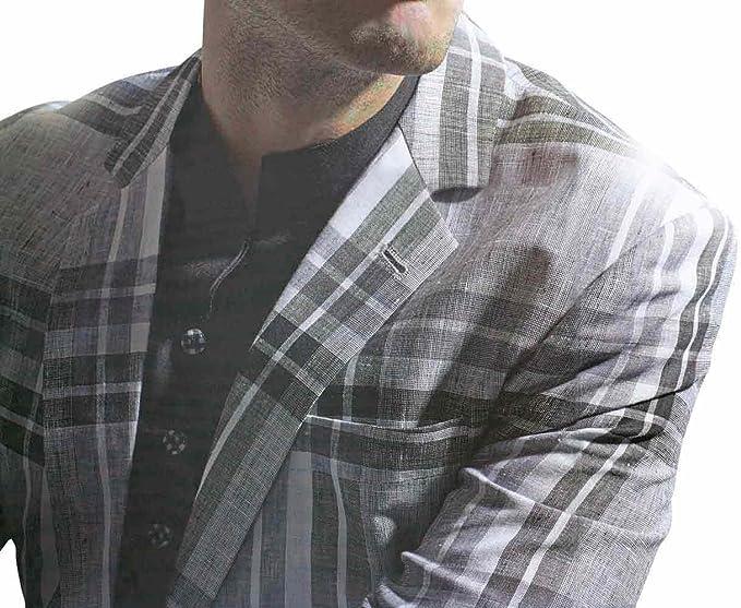 INMONARCH para hombre Ultimate Gray traje de lino LS16: Amazon.es: Ropa y accesorios