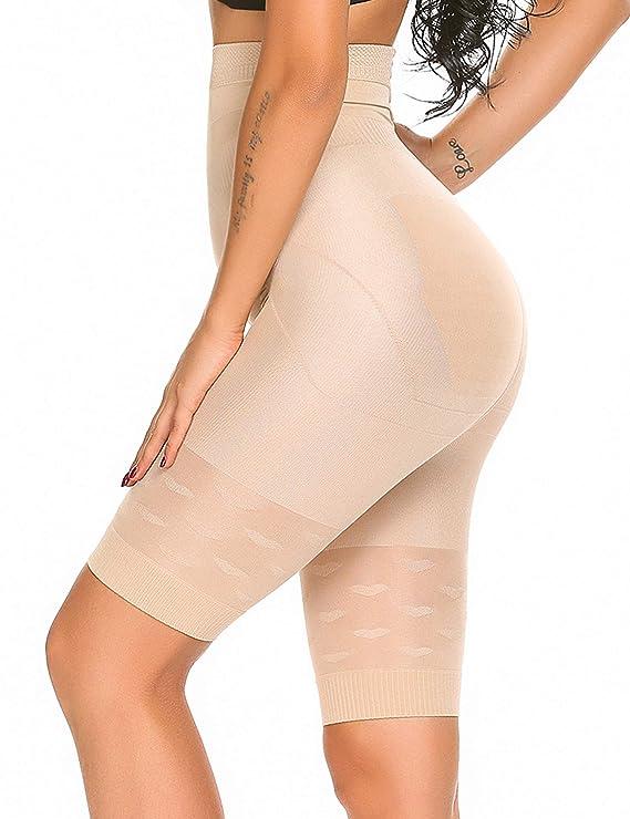SHINE Waist Trainer Cincher Tummy Slimmer Breathable Shapewear Girdle LongTorso,Beige,X-Large
