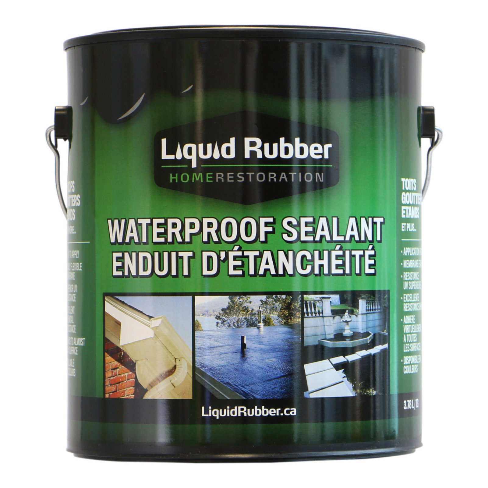 Liquid Rubber Waterproof Sealant/Coating - 1 Gallon - Original Black - Environmentally Friendly - Water Based - No Solvents, VOC's or Harmful Odors - Easy to Apply - No Mixing - TOP SELLER