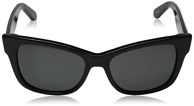0fd15edd885 Amazon.com  Kate Spade Women s Alora p s Cateye Sunglasses Black Gray  Polarized 53 mm  Clothing