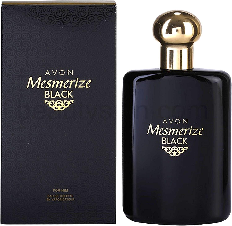 Eau De Toilette en espray para hombre, aroma intenso, 100 ml, de la marca Avon Mesmerize Black