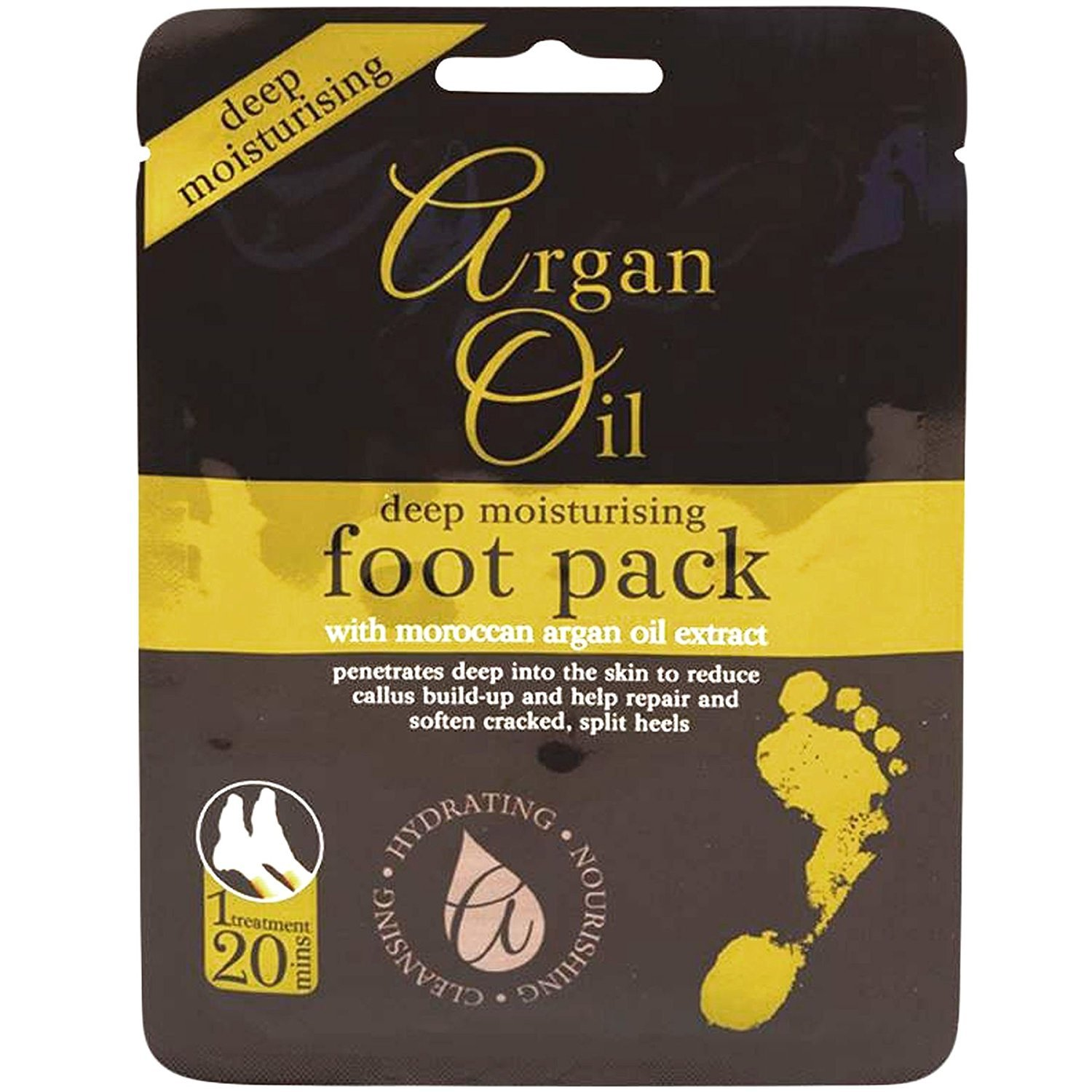 Multi Pack Deep Moisturising Foot Pack with Morrocan Argan Oil Extract - 12 Packs