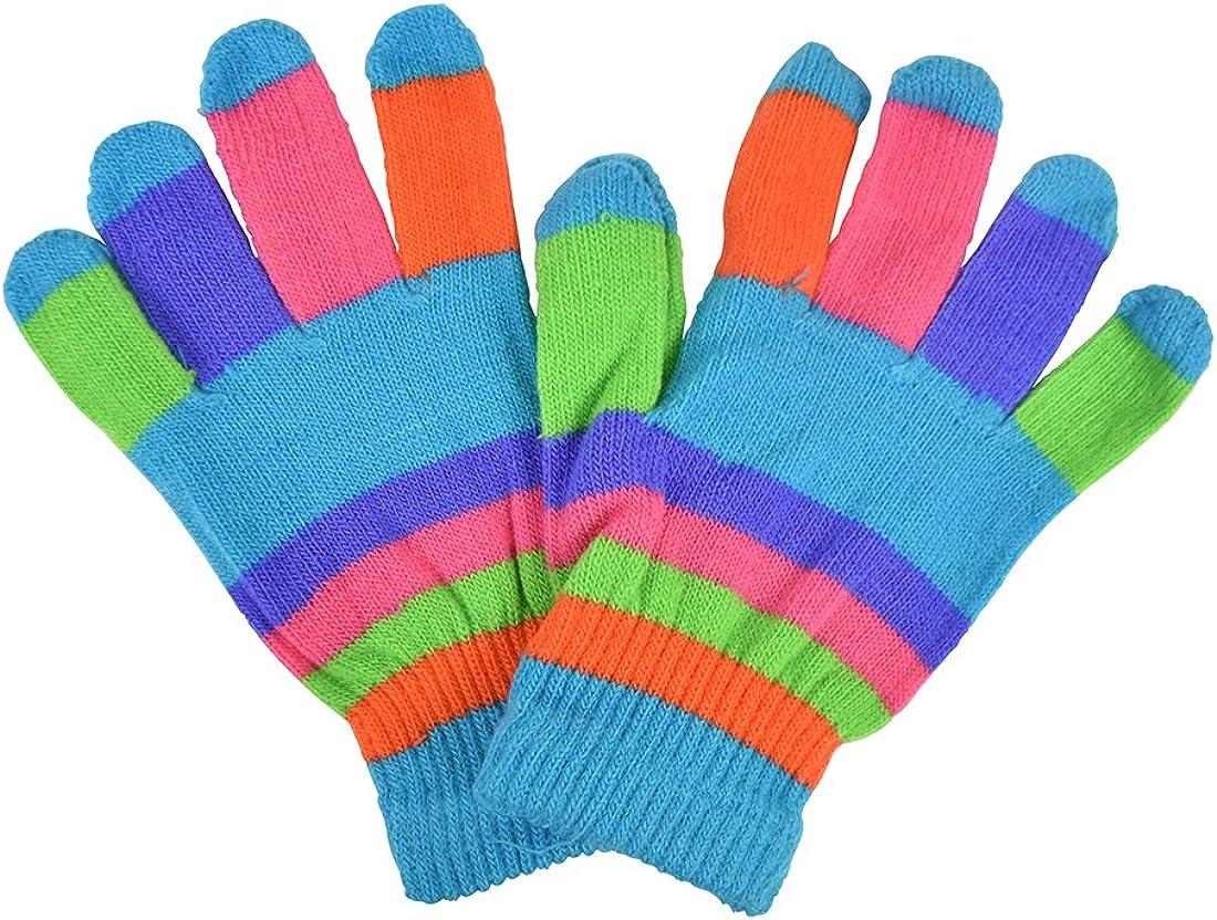 Striped Ladies Gloves Magic...