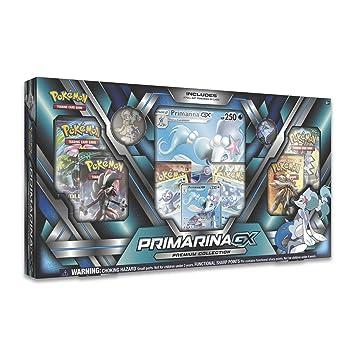 Pokémon JUEGO DE CARTAS: Caja INGLÉS Primarina GX Premium ...