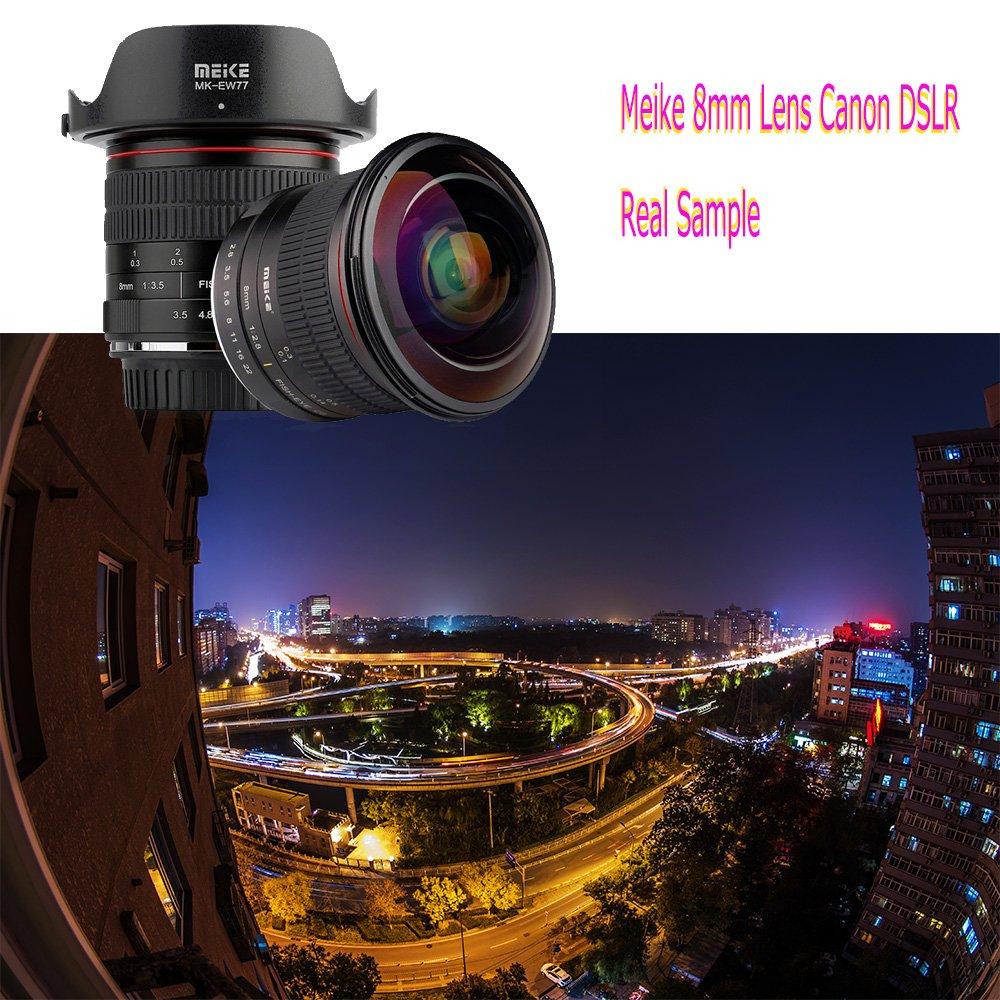 Meike MK 8 mm f//3,5 Ultra HD Objectif Fisheye pour Sony Emount cameras Canon EF mount fixed-non-zoom Objectif