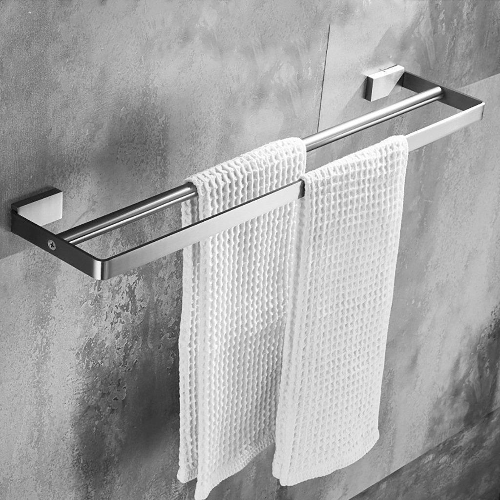 SHJICH-bathroom Badezimmer-doppelter Handtuchhalter 304 Edelstahl-Handtuchhalter Edelstahl-Handtuchhalter Edelstahl-Handtuchhalter perforierte Wandhandtuchhalter (größe   30cm) B07MXDB71F Handtuchhalter & -stangen 8ff9bf