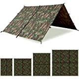 Aqua Quest Defender Tarp - 100% Waterproof Heavy Duty Nylon Bushcraft Survival Shelter - 10x7, 10x10, 13x10, 15x15 Camo…