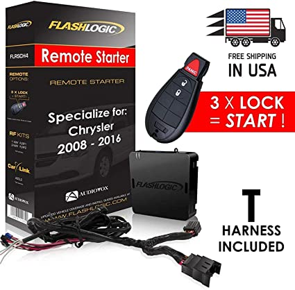 Flashlogic Add-On Remote Start for CHRYSLER TOWN /& COUNTRY 2015 Plug and Play