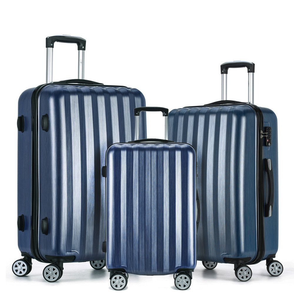 Fochier Carry on Luggage Lightweight Hardside 3 Piece Set Expandable Spinner Suitcase by FOCHIER F