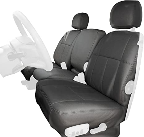 Clazzio 720821gry Grey Leather Front Row Seat Cover for Ford F150 Super Crew