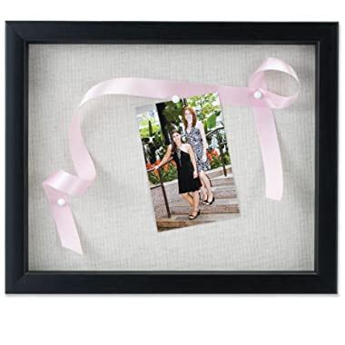 Lawrence Frames 11 by 14-Inch Black Shadow Box Frame, Linen Inner Display Board