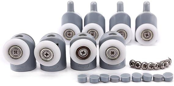 Surepromise - 4 sets de 23 mm de diámetro para puerta de ducha ...