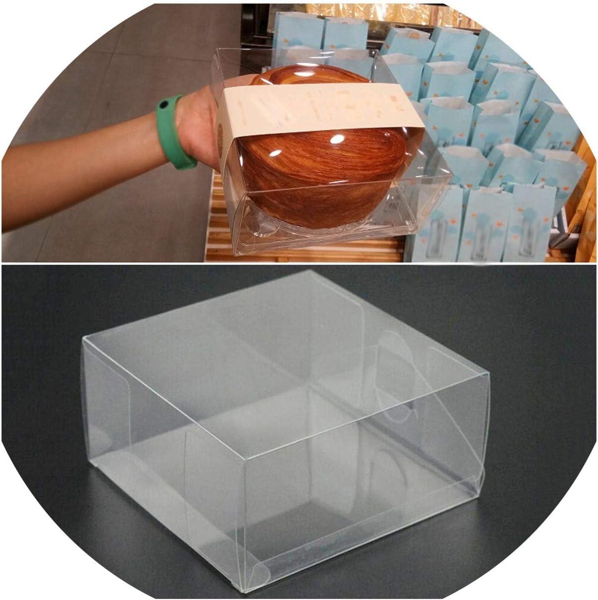 20 cajas de plástico PVC transparente para tartas, cupcakes, bodas ...