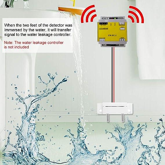 OWSOO Detector de Inundación Alarma de Inundaciones para Sistema de Seguridad en Hogar: Amazon.es: Bricolaje y herramientas