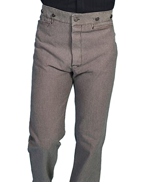 Men's Steampink Pants & Trousers Raised Dobby Stripe Pants $84.00 AT vintagedancer.com