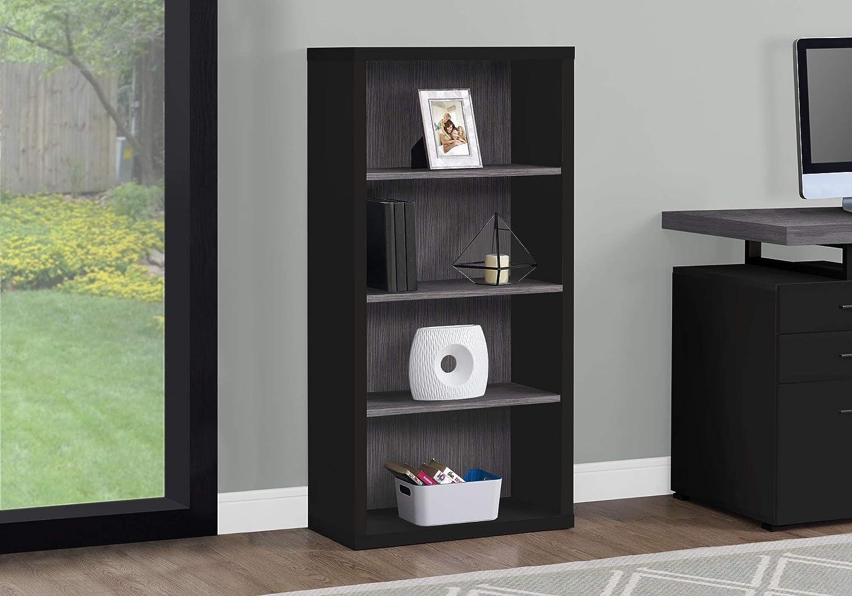 Monarch Specialties 7407 Bookcase, Black