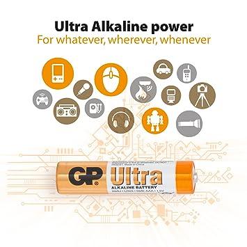 Gp Batteries Ultra High Performance Alkaline Aaa Amazon