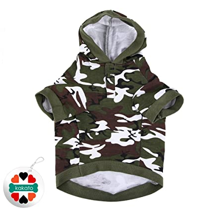 Image Unavailable. Image not available for. Color  Army Green Camouflage  Hoodie Pet Dog Clothes ... 69cb3cfa9