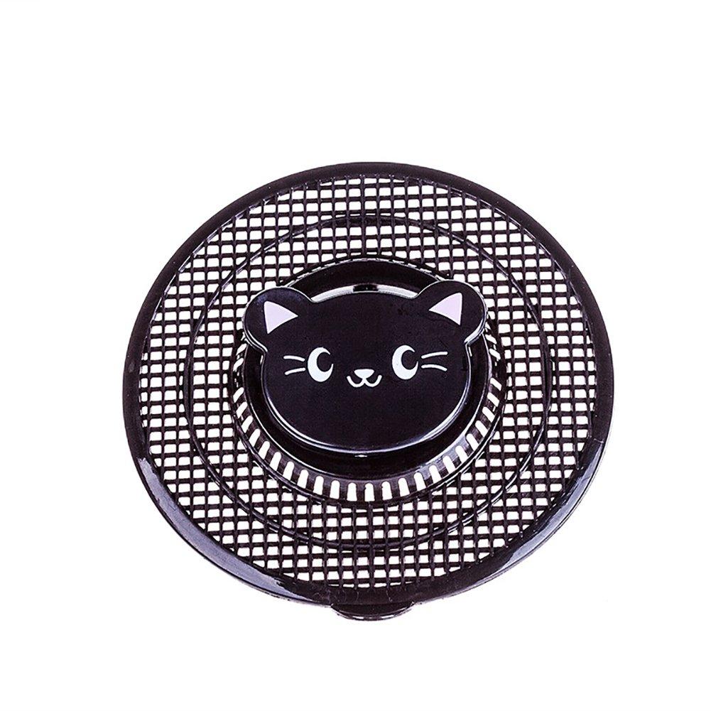 Lovely Animal Sink Strainer Cute Bear Kitchen Bath Hair Catcher Trap Drain Filter Tool Cute Bear 1Pc (black)