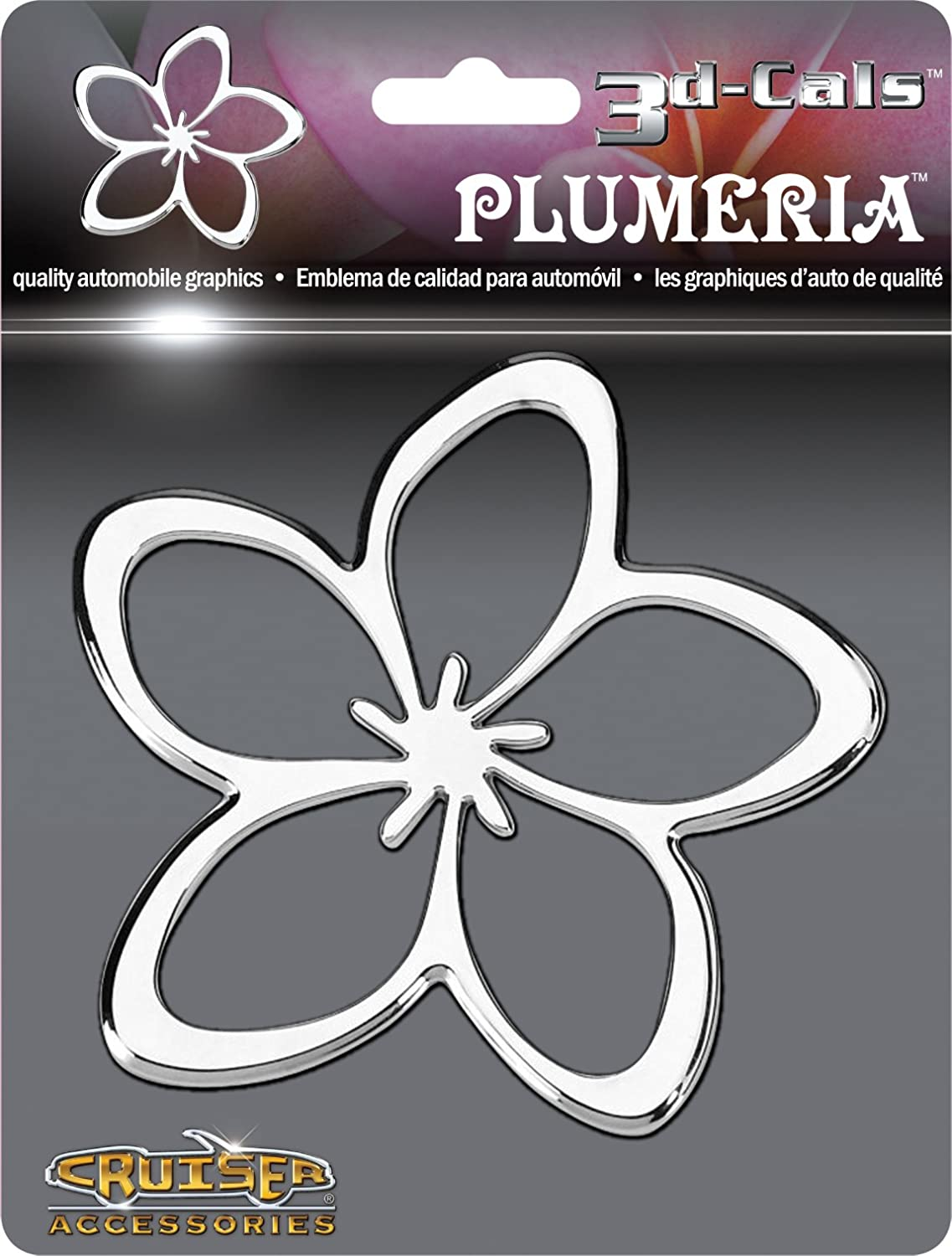 Cruiser Accessories 83033 3d-Cals Plumeria Chrome